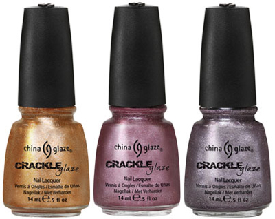 China Glaze Summer 2011 Collection ~ Crackle Metals