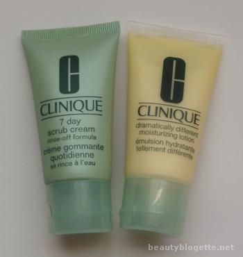 Clinique 7 Day Scrub Cream Rinse-Off Formula & Dramatically Different Moisturizing Lotion