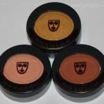 Kryolan mono eyeshadows – Apricot, Gold and Cappuccino