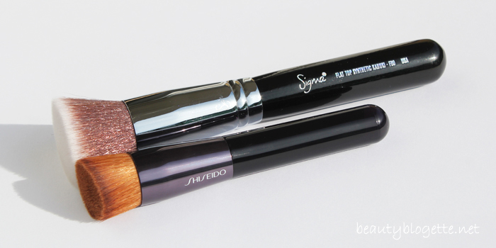Shiseido Perfect Foundation Brush & Sigma Beauty F80 Brush
