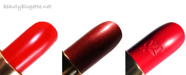 Lancôme L'Absolu Rouge (#151, #154 & #132)