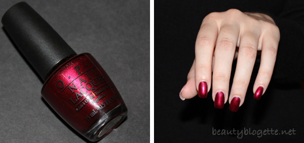 OPI nail polish in Bogota Blackberry