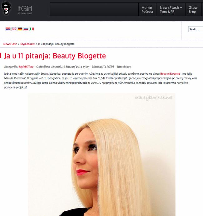 Ja u 11 pitanja: Beauty Blogette
