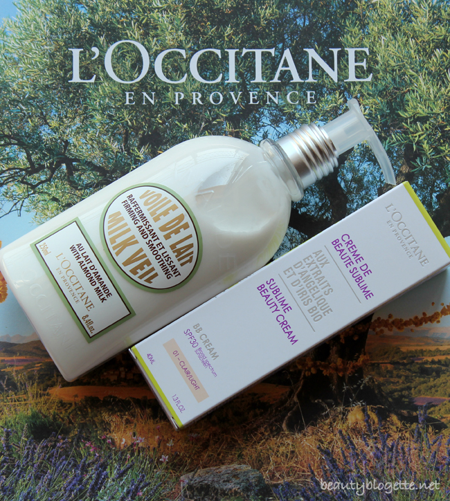 L'Occitane Almond Milk Veil and Iris Angelica Sublime Beauty Cream Light SPF30