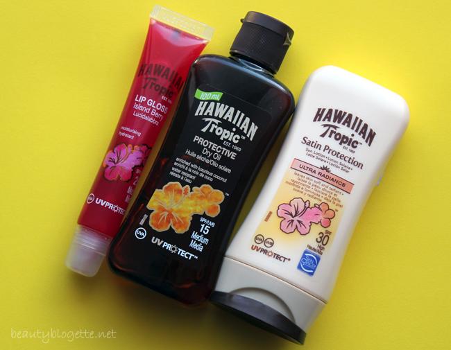 Hawaiian Tropic Zaštitni losion za sunčanje SPF 30, Zaštitno ulje za sunčanje SPF 15 i Sjajilo za usne SPF 25