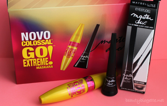 Maybelline New York Colossal Go Extreme maskara i Master Duo liner