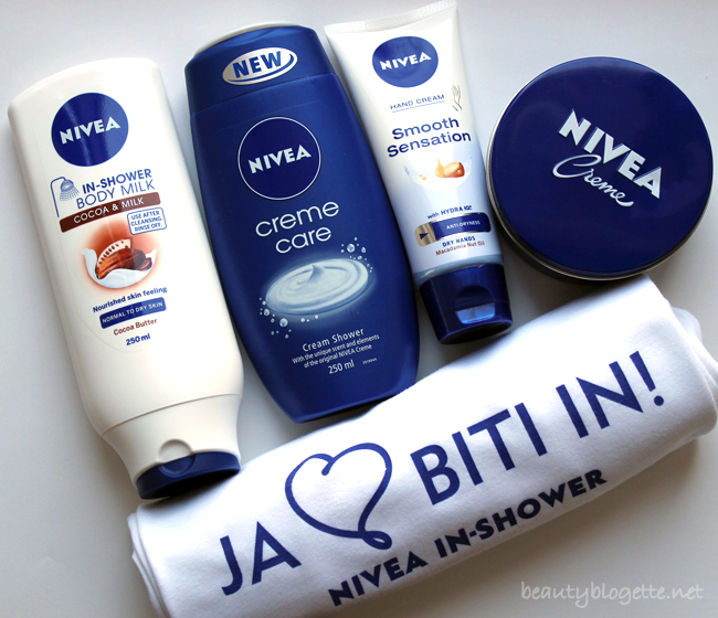 NIVEA In-Shower, Creme Care, Smooth Sensation i univerzalna krema