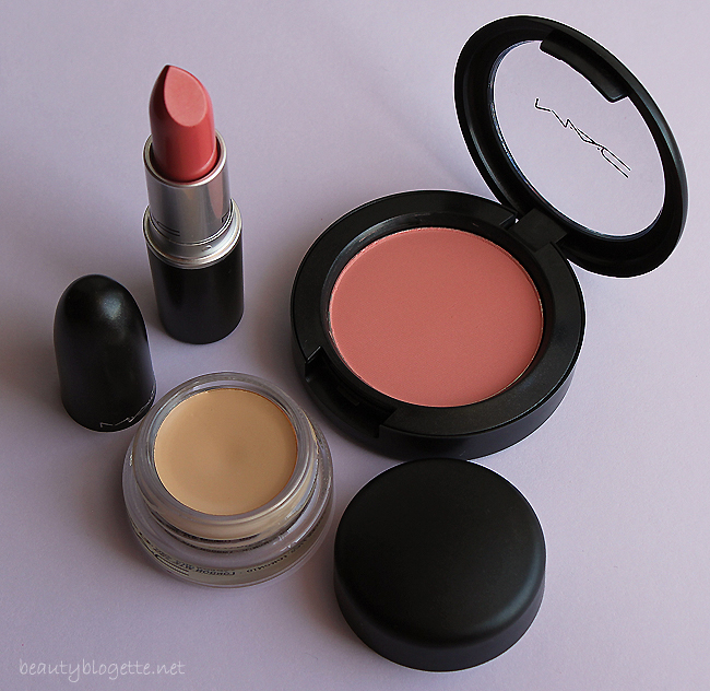 MAC Ravishing ruž, Peaches rumenilo i Soft Ochre Pro Longwear Paint Pot