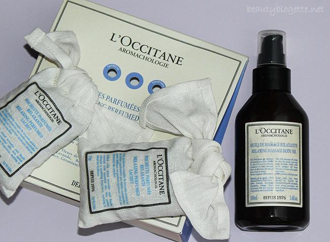 L'Occitane Aromakologija: Opuštajuće ulje za masažu i Opuštajuće mirisne vrećice