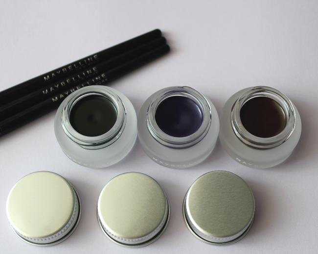 Maybelline New York Eyestudio Lasting Drama Gel Eyeliner 24h u nijansama Intense Black, Ultra Violet & Brown