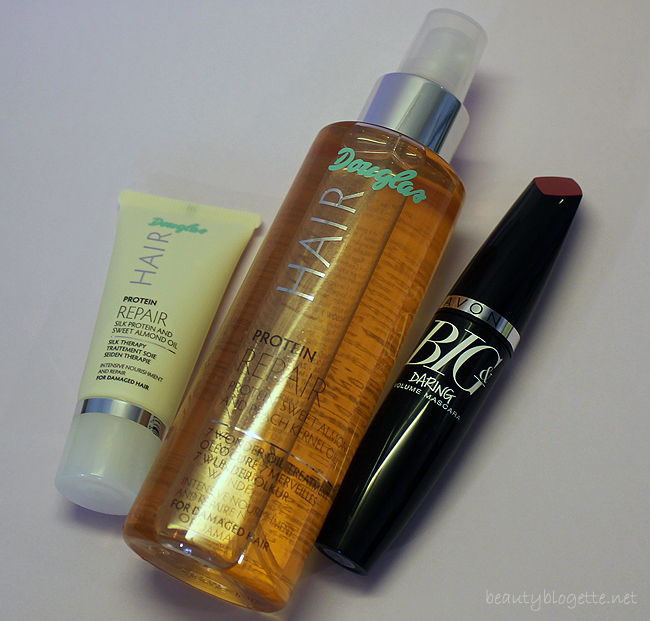 Douglas Hair Protein Repair 7 Wonder Oil Treatment, Protein Repair Silk Therapy & Avon Big&Daring Volume maskara