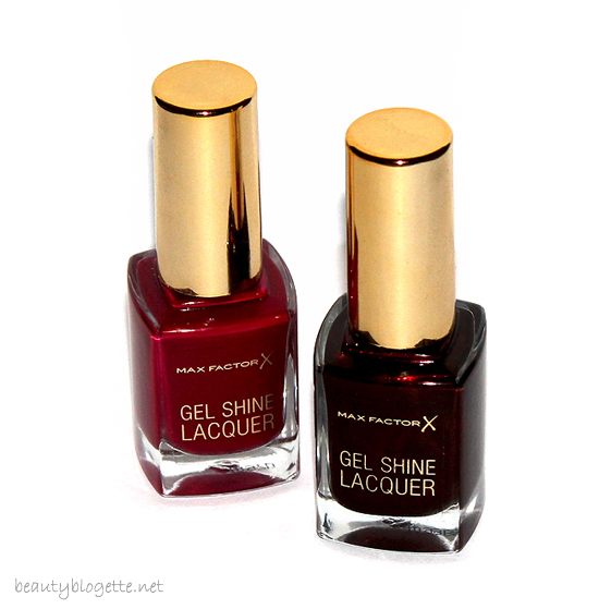 Max Factor Gel Shine Lacquer 55 Sparkling Berry & 60 Sheen Merlot