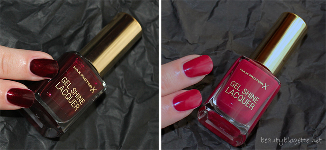 Max Factor Gel Shine Lacquer 60 Sheen Merlot & 55 Sparkling Berry