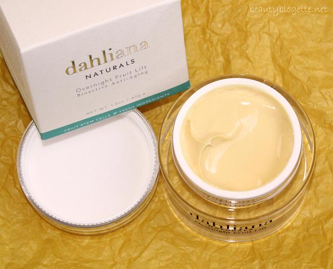 Dahliana Naturals Overnight Fruit Lift crème