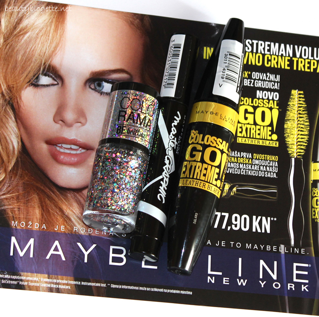 Maybelline New York Master Graphic liquid marker, The Colossal Go Extreme! Volum' Express Leather Black maskara i Colorama BE brilliant! 418 lak za nokte
