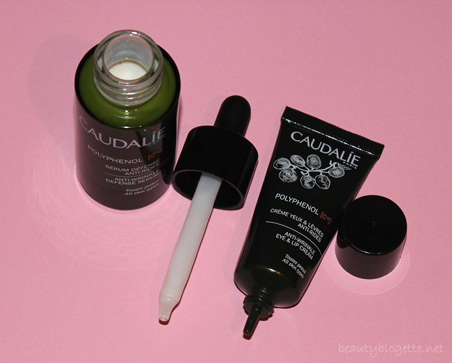 Caudalie Polyphenol [C15] Anti-Wrinkle Defense Serum & Anti-Wrinkle Eye and Lip Cream