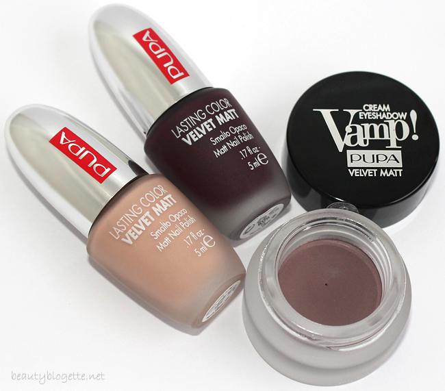 Pupa Milano Lasting Color Velvet Matt lakovi za nokte 002 Rouge Noir & 005 Nude i Vamp! kremasto sjenilo 601 Lilac Grey