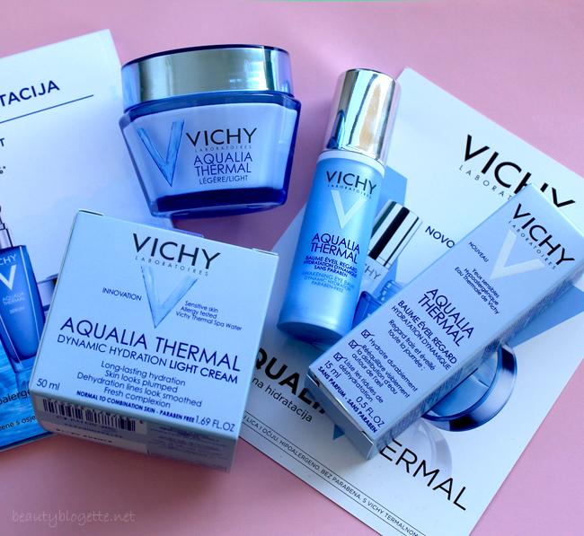 Vichy Aqualia Thermal balzam za područje oko očiju i krema za njegu lica