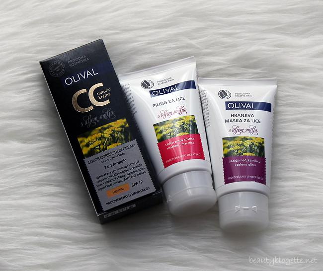 Olival piling, maska i CC krema s uljem smilja