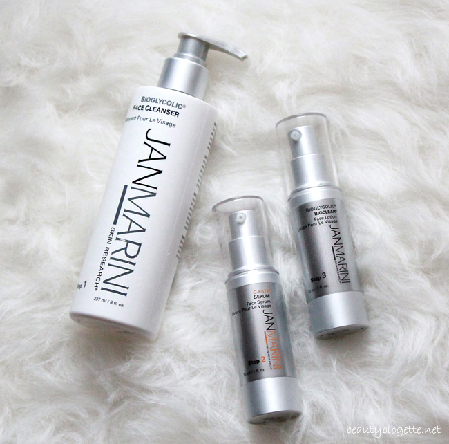 Jan Marini Bioglycolic Face Cleanser, C-ESTA Face Serum & Bioglycolic Bioclear Face Lotion