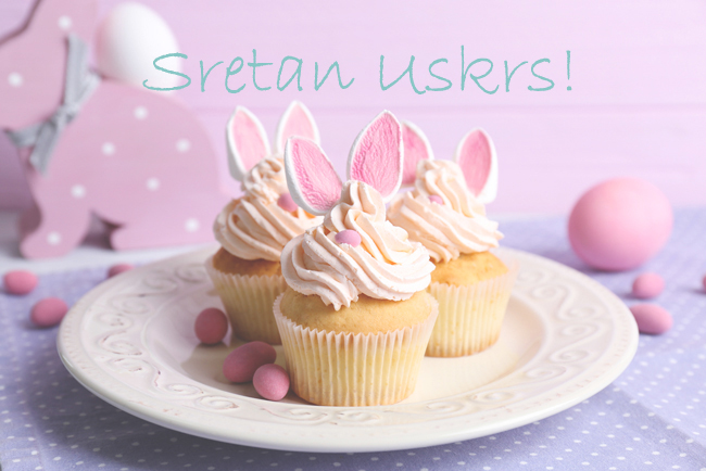 Easter cupcakes from Shutterstock
