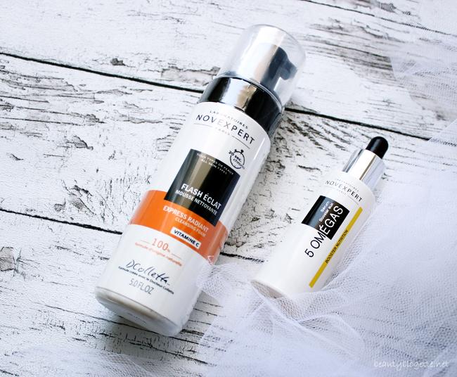 NovExpert Express Radiant pjena za čišćenje lica s vitaminom C & Booster serum s 5 omega