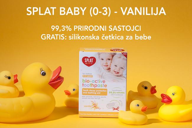 SPLAT Baby - prirodna zubna pasta za djecu 0-3 godine