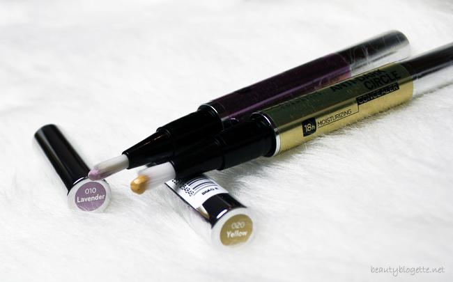 CATRICE RE-TOUCH CONCEALER Brightening 010 Lavender & Anti-Dark Circle 020 Yellow korektori