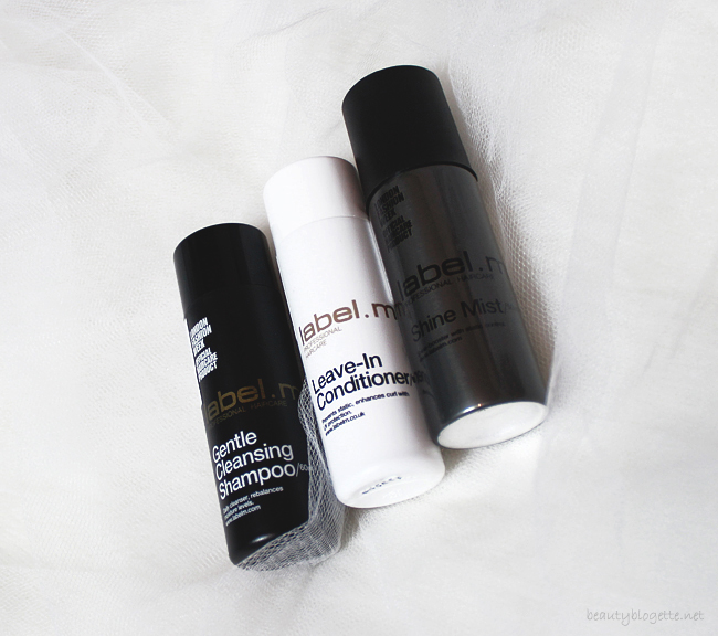 label.m Gentle Cleansing Shampoo, Leave-In Conditioner & Shine Mist