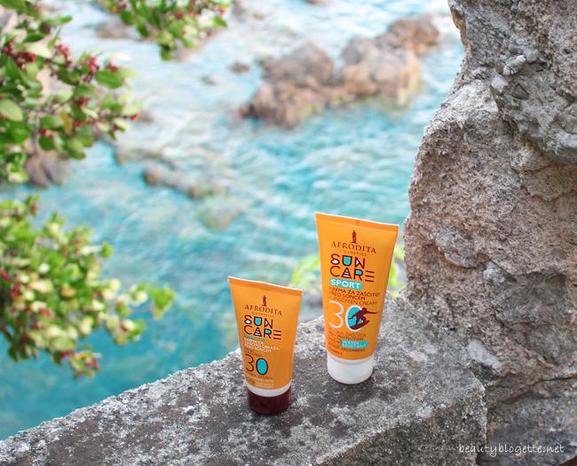 Kozmetika Afrodita Sensitive krema za lice SPF 30 & SPORT krema za zaštitu od sunca