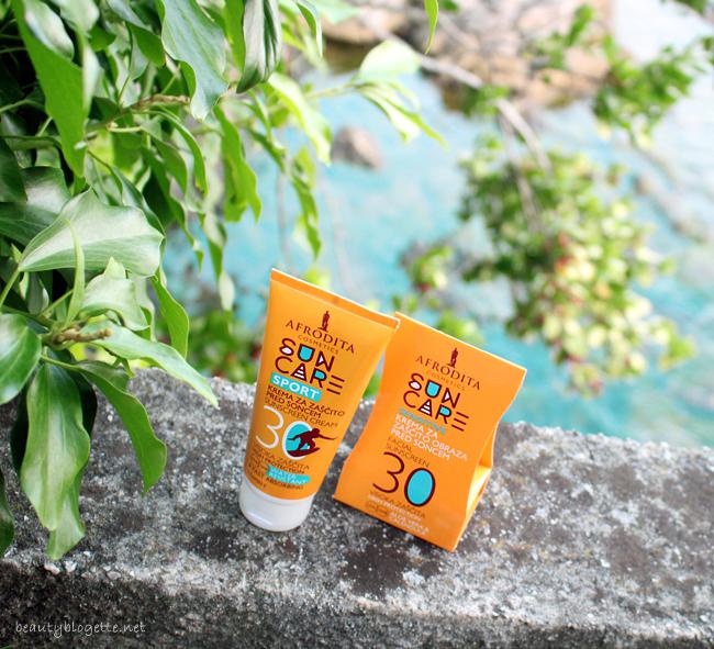 Kozmetika Afrodita SPORT krema za zaštitu od sunca & Sensitive krema za lice SPF 30
